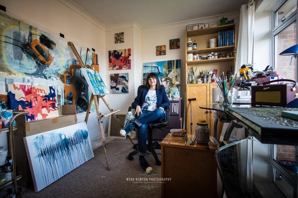 Jasmine in her studio
