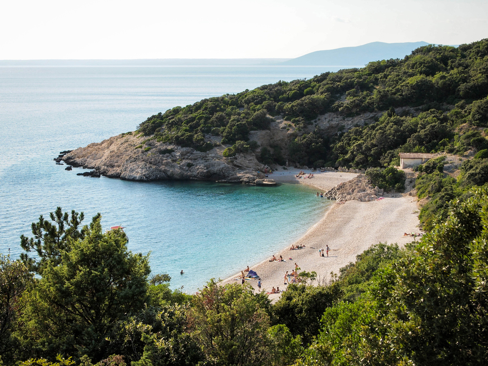 Wonderful St Ivan beach below Lubenice