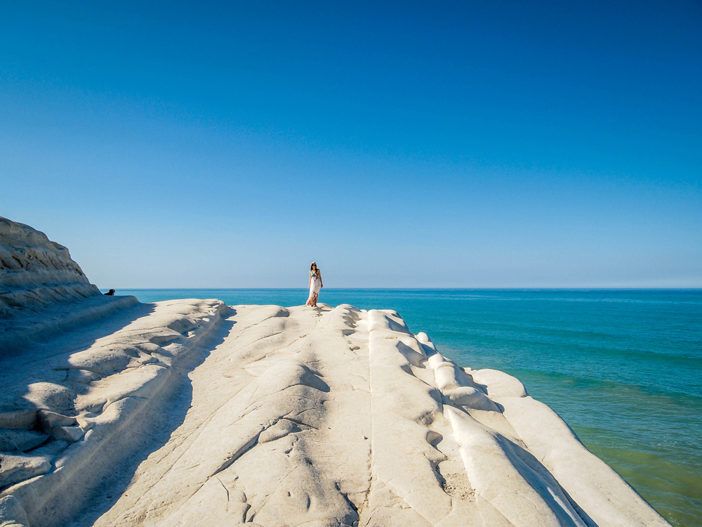 White cliffs of Scala dei Turchi near Agrigento