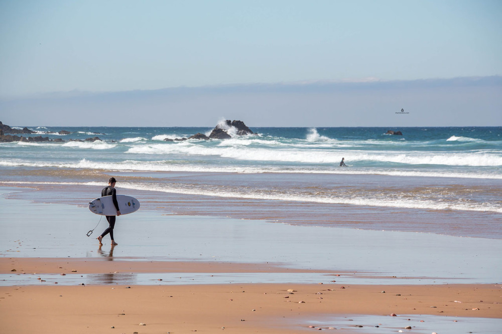 Praia do Amado, a popular surfing spot