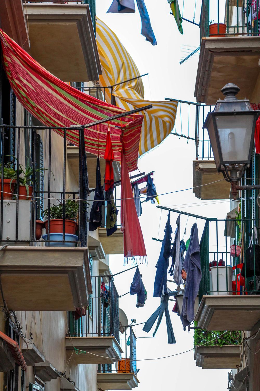 The balconies of Vieste, Italy