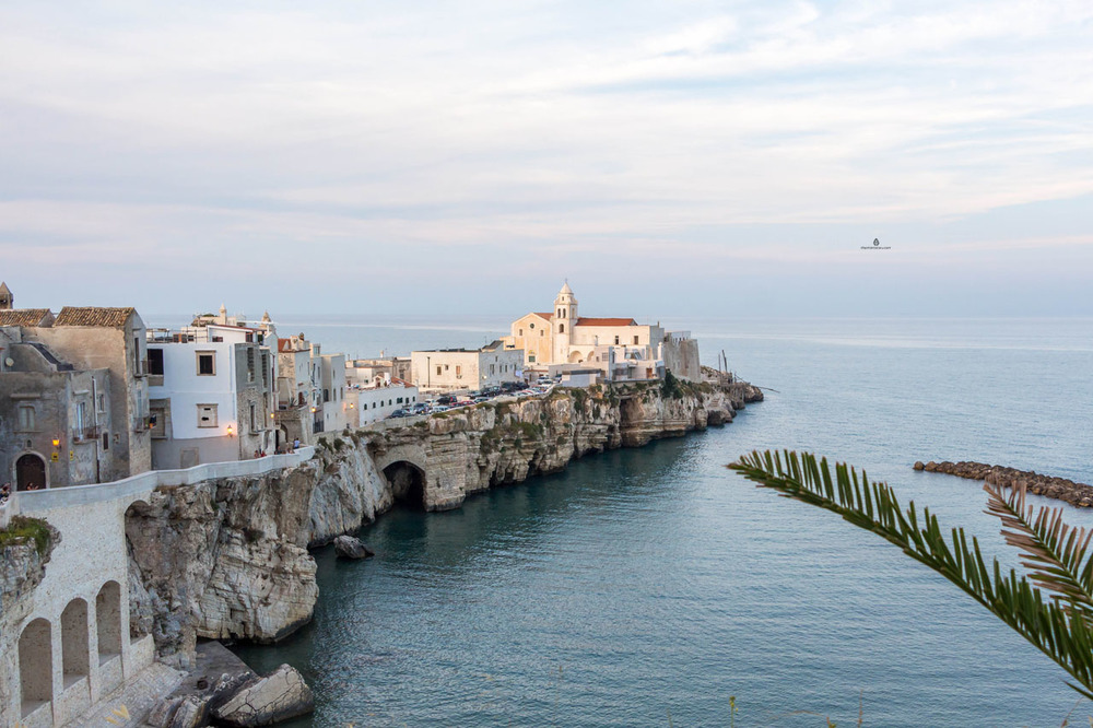 The view of Vieste, Italy