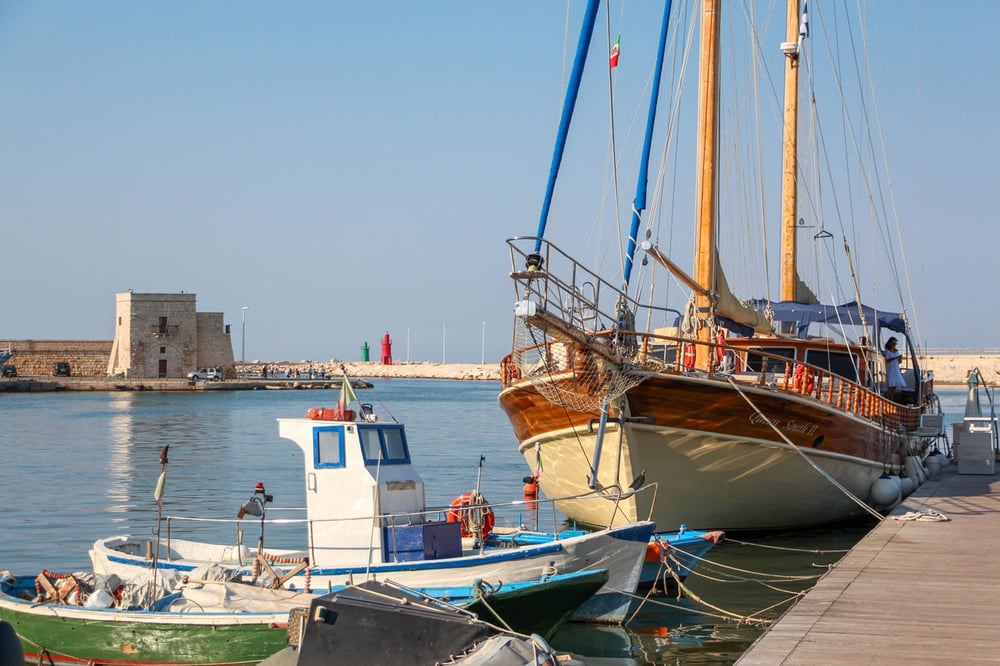 The seaside town of Trani in Puglia
