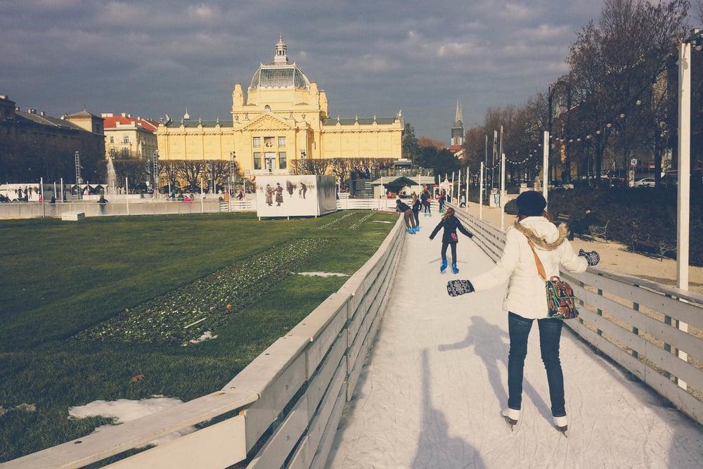 Ice-skating-Zagreb