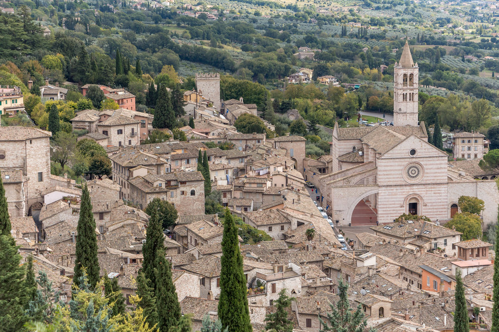 The view of Assisi, Umbria