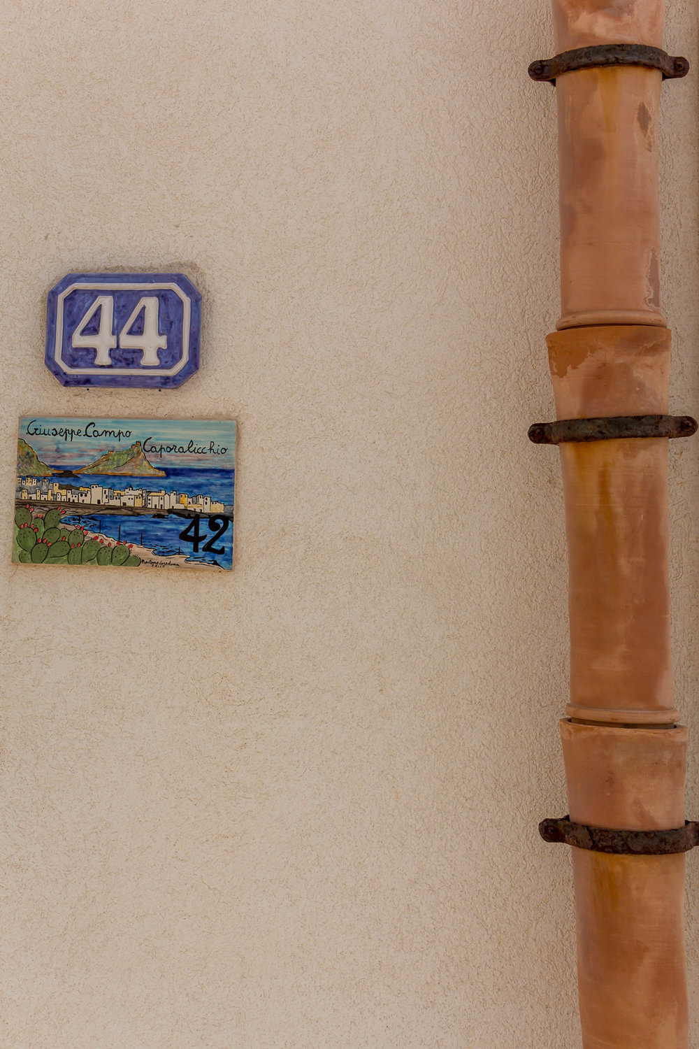House numbers in Marettimo