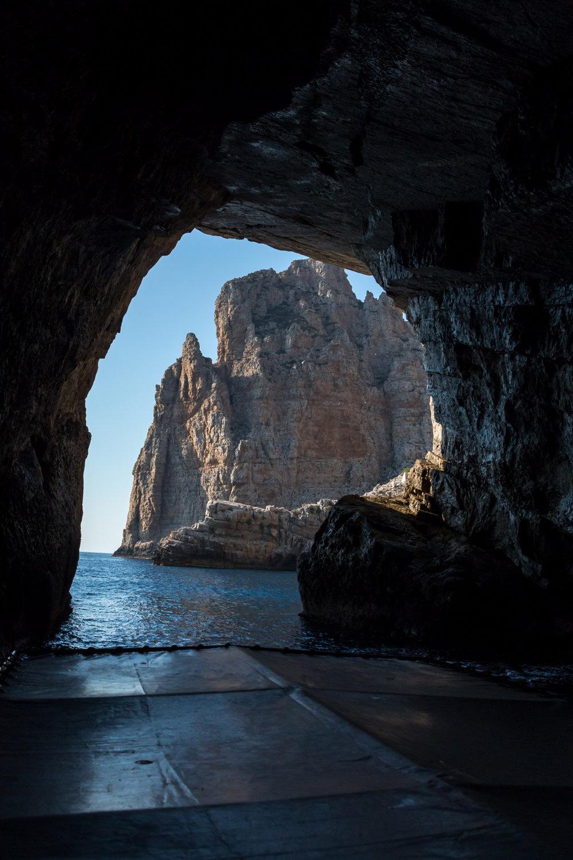 Marettimo island, Grotta Bombarda