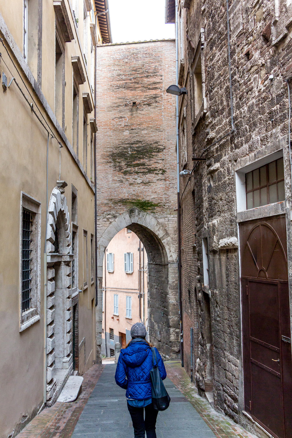 Walking the streets of Perugia, Italy