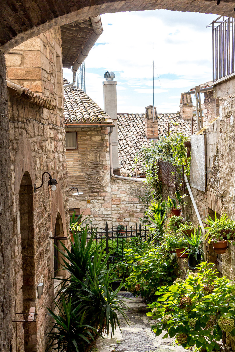 Courtyard in Assisi, Umbria
