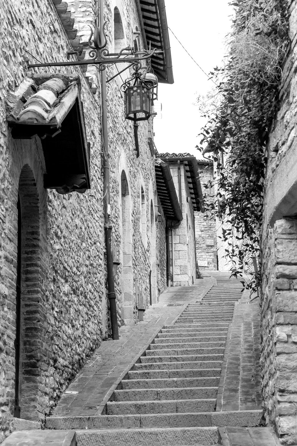 The streets of Assisi, Italy