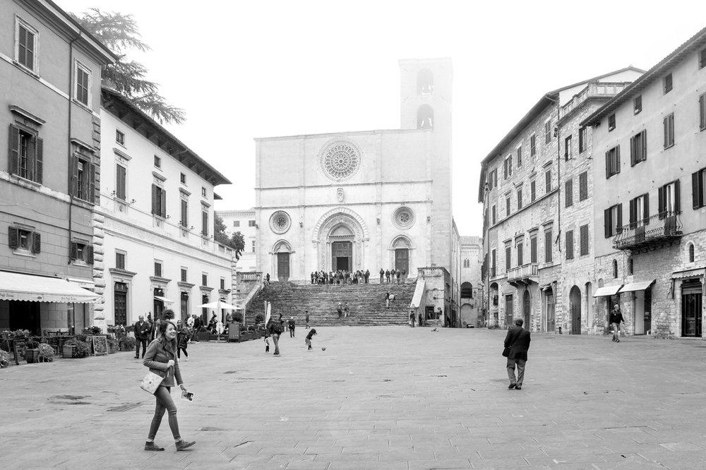 Todi town square