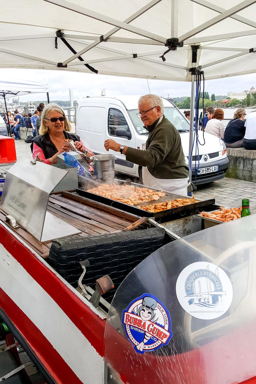 Food vendor at Marche des Quais, Bordeaux