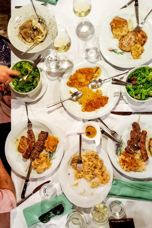 Dinner at Konoba Malo Selo, Istria