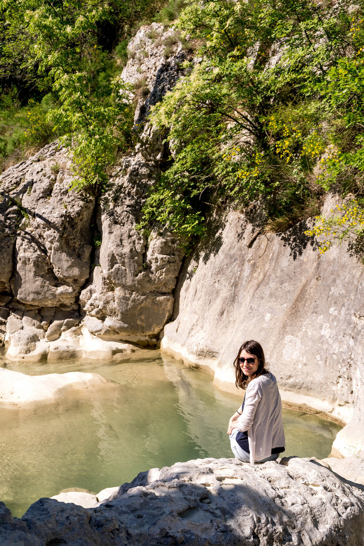 Waterfalls in the village of Kotli, Istria