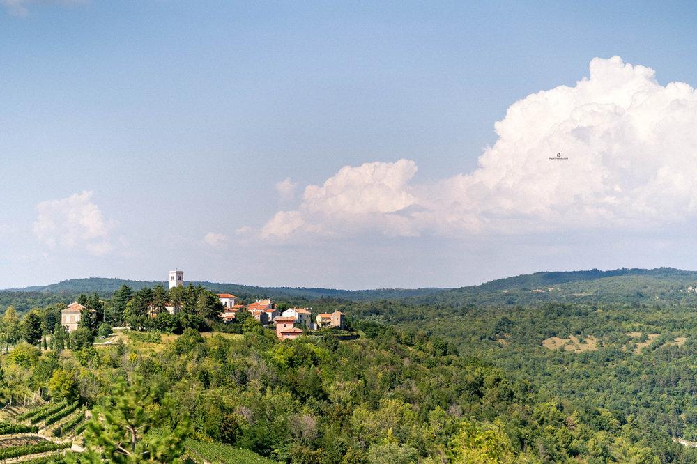 The town of Oprtalj, Istria