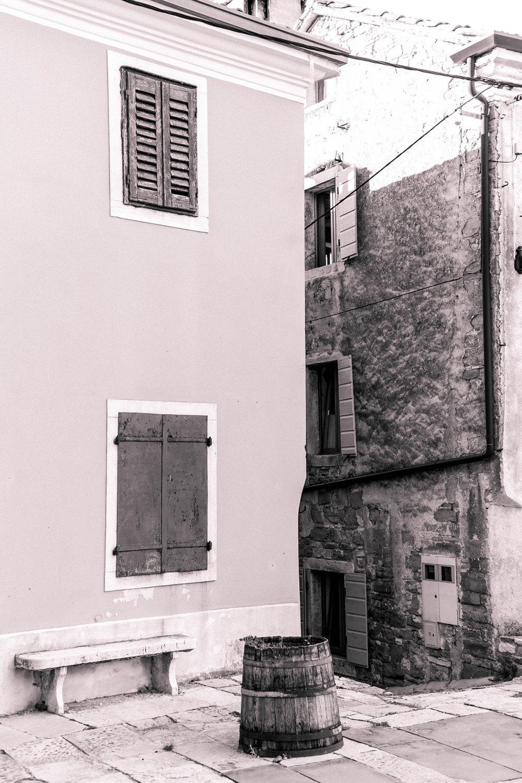 Sleepy town of Oprtalj, Istria