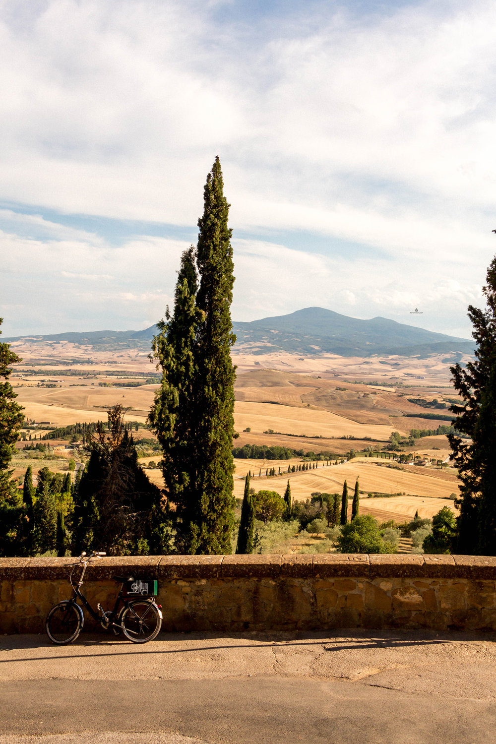 The views from Pienza, Tuscany