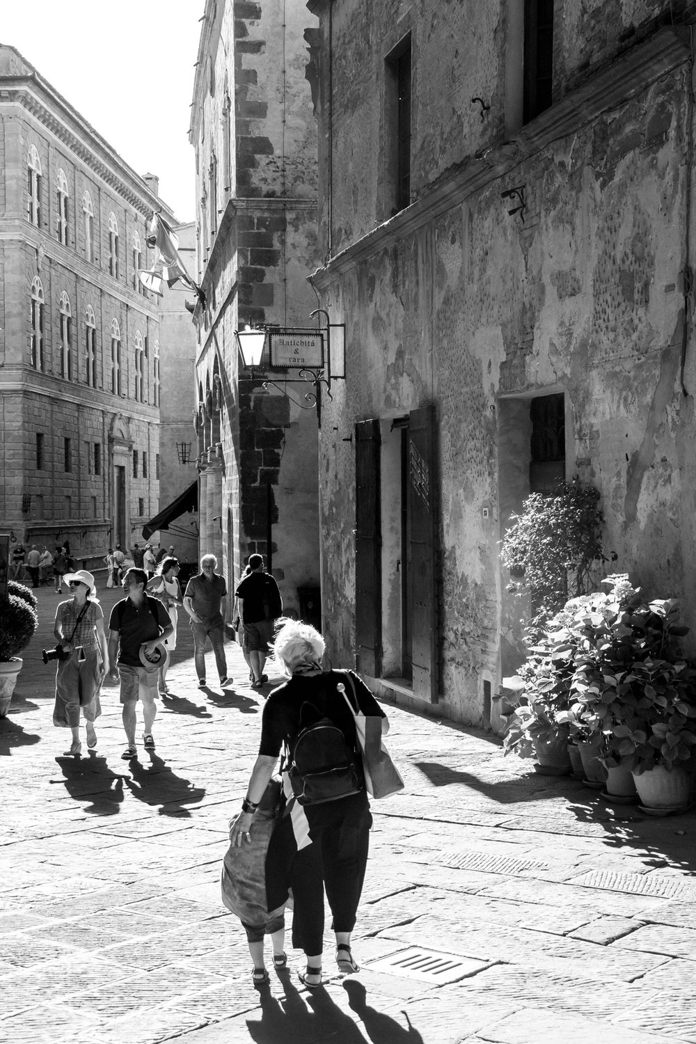 On the street, Pienza, Tuscany