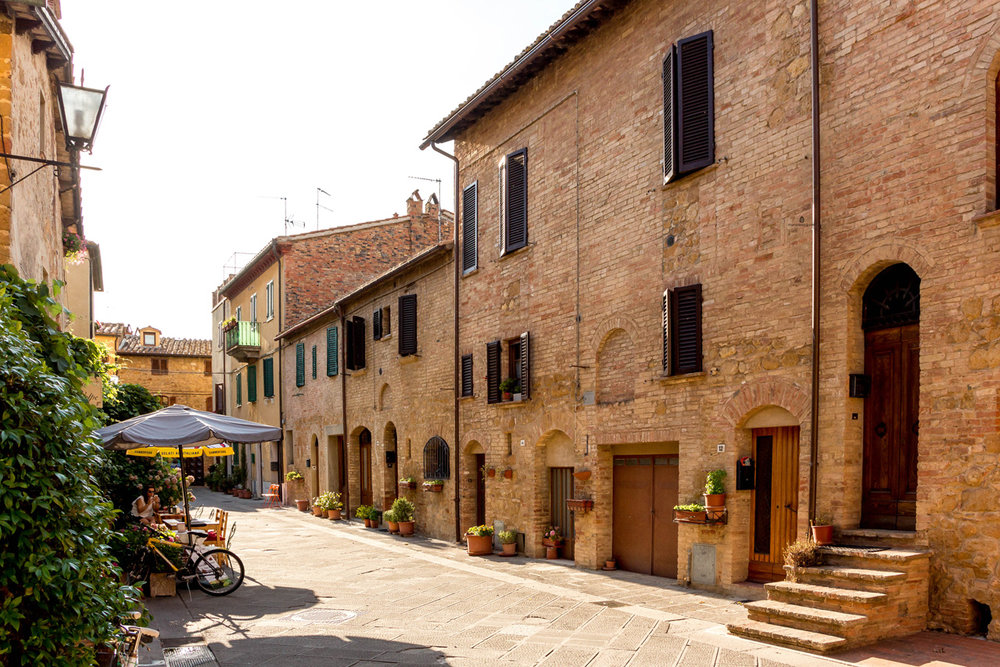 The town of Pienza, Tuscany