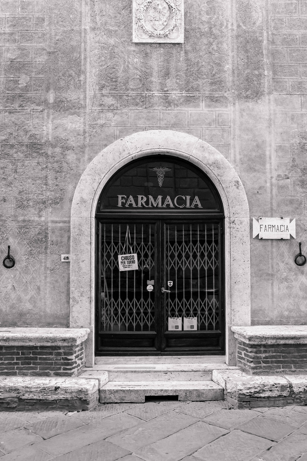 Pharmacy in Pienza, Tuscany