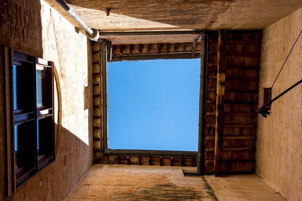 Pienza, a courtyard