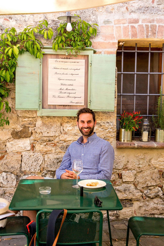 Lunch at La Bottega di Cacio, Bagno Vignoni