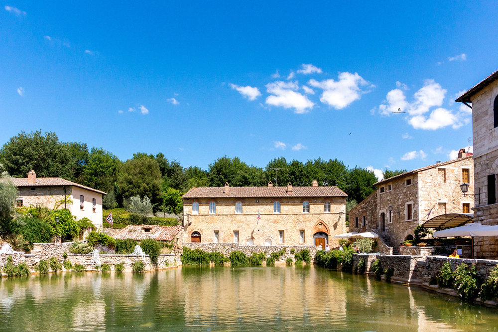 Tuscan Bagno Vignoni. With a pool instead of the main square.