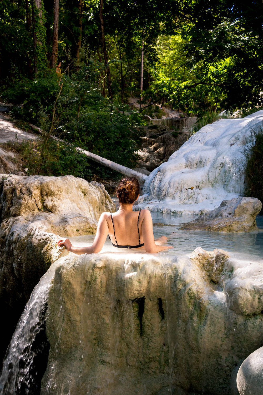 Thermal baths of Bagni San Filippo, Italy