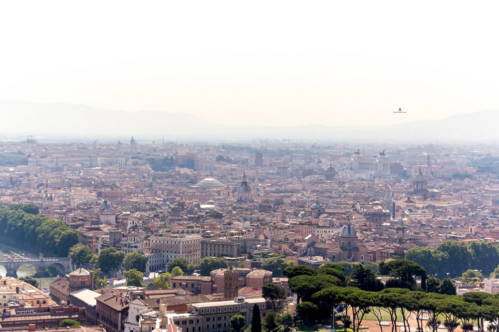 Views of Rome from St. Peter's Basilica dome