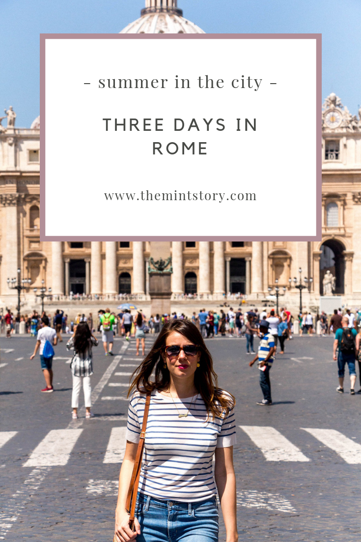 Three days guide to Rome's art and food
