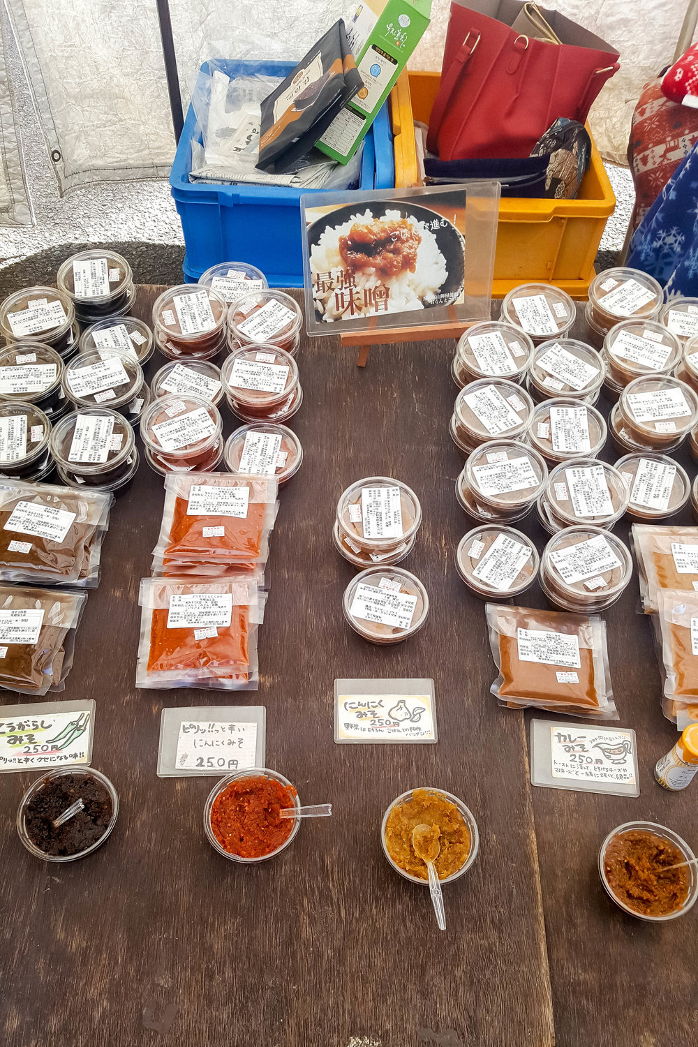Sauces at Jinya Mae Morning Market