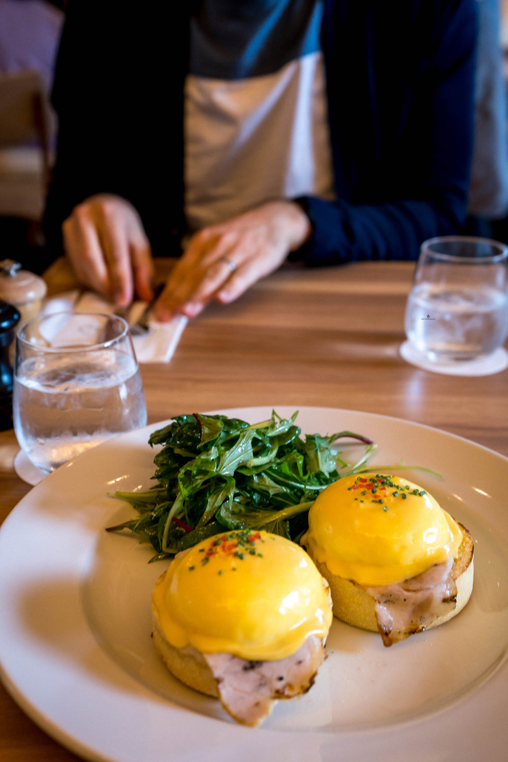 Eggs Benedict in Sarabeth's, Nagoya Station