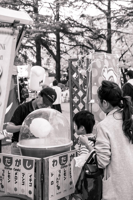 Hanami festival in Tsurumai Park, Nagoya