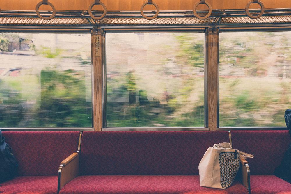 On a train to Iga