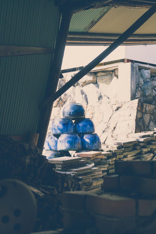 Shigaraki pottery kiln