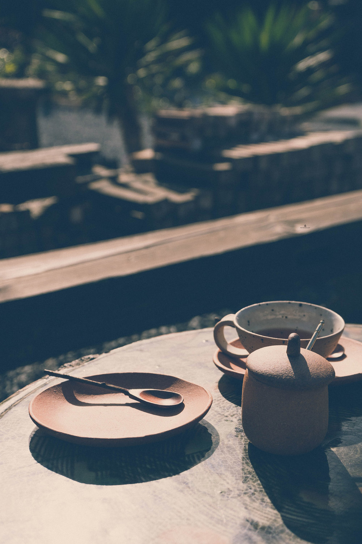 Tea at Ogama Noborigama cafe, Shigaraki