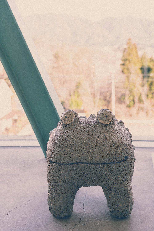Kouichi Maekawa's ceramic frog