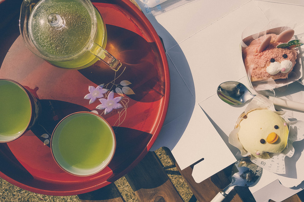 Morning tea at Jiji's house