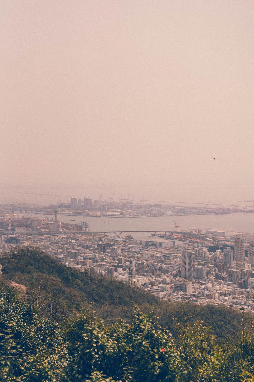View of Kobe from Nunobiki Herb Garden