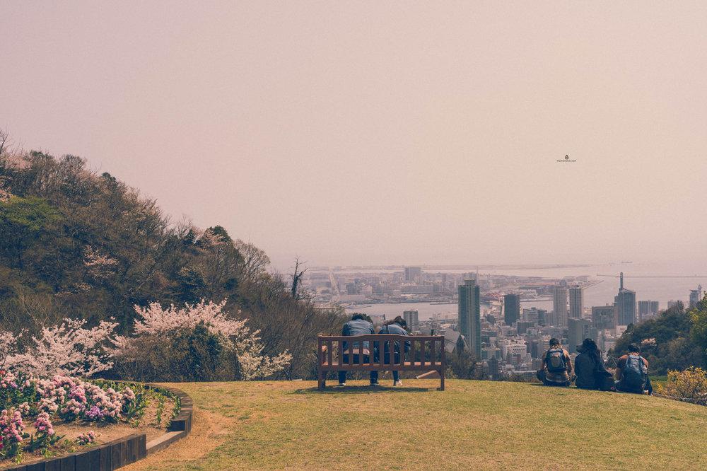 View of Kobe from Shin-Kobe ropeway middle station