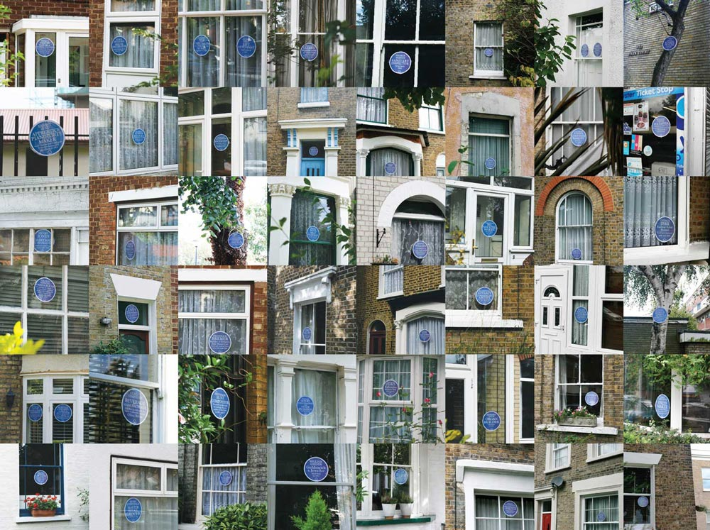 Danny created over 65 plaques for Grosvenor Park Road, Walthamstow. They were displayed as part of the E17 Art Trail from 2-11 Sept 2011 in the front windows of the actual address given in the censuses. All the designs are grouped together below. Thanks to all who helped make this happen.