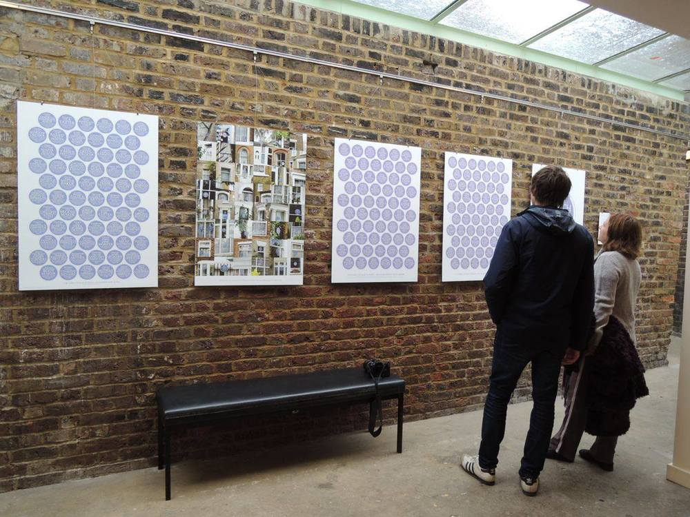 An exhibition of Danny's blue plaques at the Vestry House museum, Nov 2014