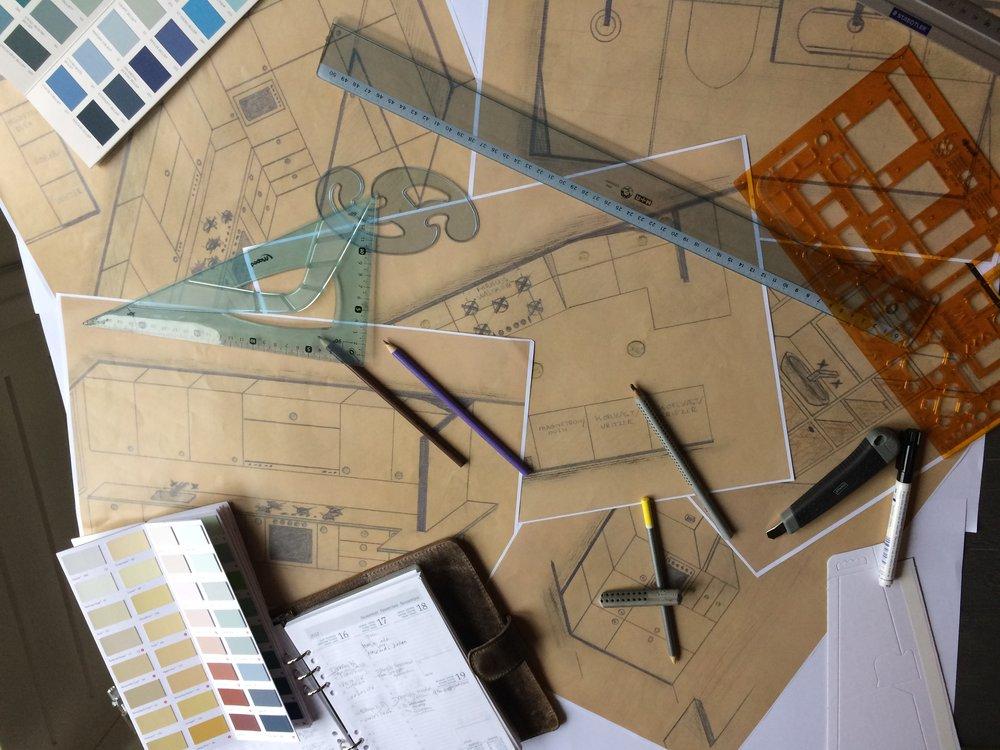 Mijnhout&mijnhout ontwerpen badkamer en keuken in woonhuis laren