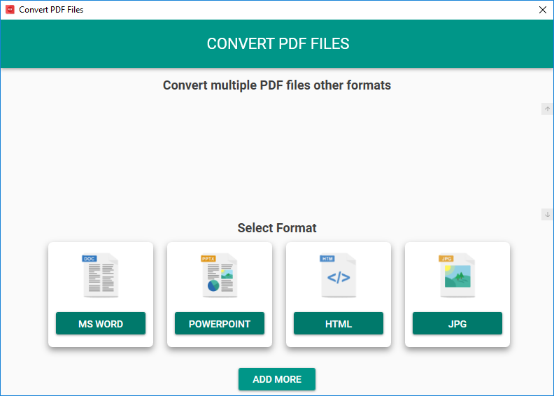 Convert PDF to MS Word, PowerPoint, HTML and JPG Image