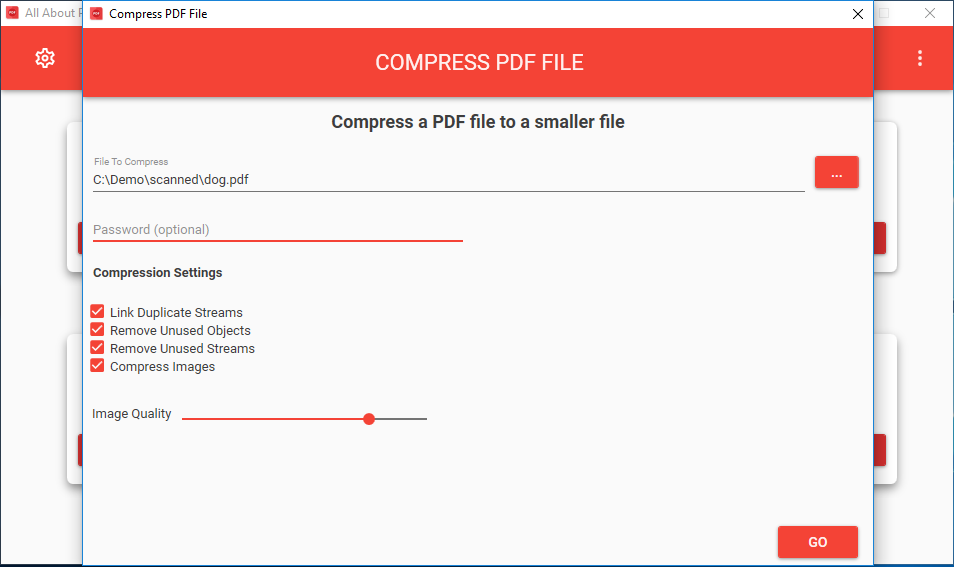 Compress PDF to Reduce File Size