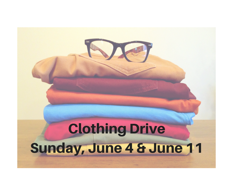 Bring in your clean, gently used clothing for  all ages and sizes these two Sundays to benefit our neighbors in need through the Rescue Mission of Trenton.
