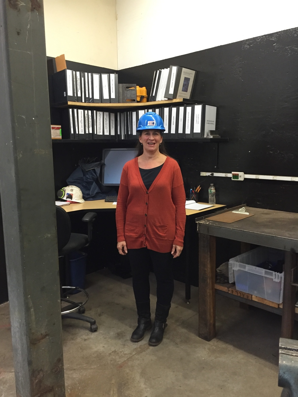 The workshop was such a success that I was asked to organize many other areas in the factory and in the office.I won't have to wear my hard hat in the office area. :-)