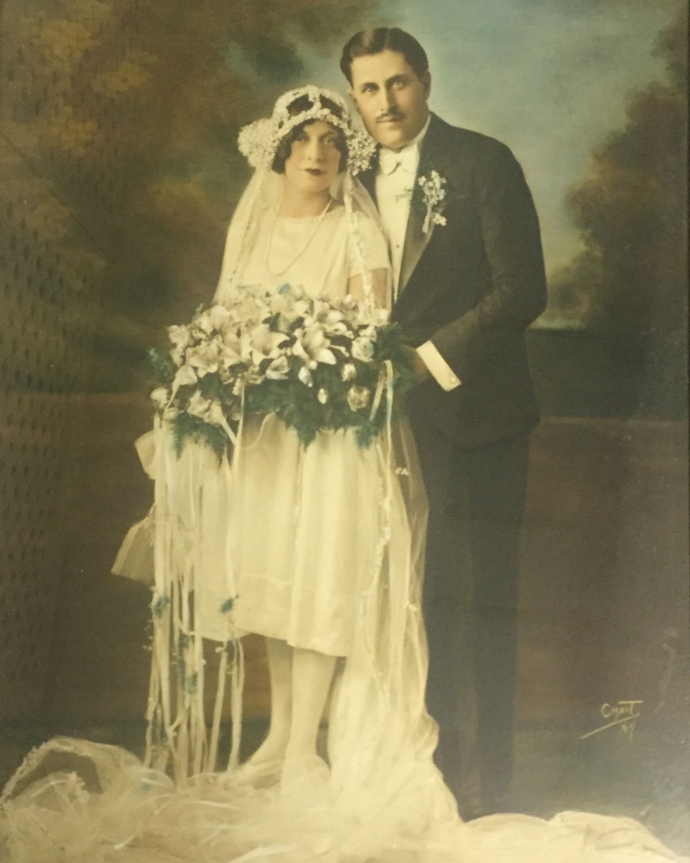 My Italian grandparents on their wedding day.