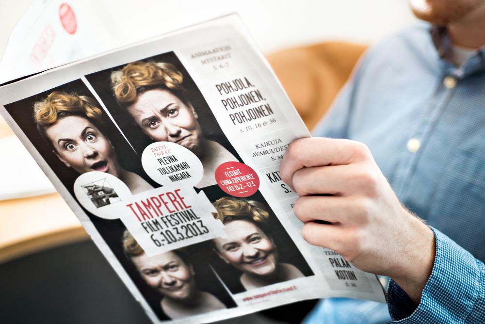 Festivaalin tabloid julkaisu 2013.