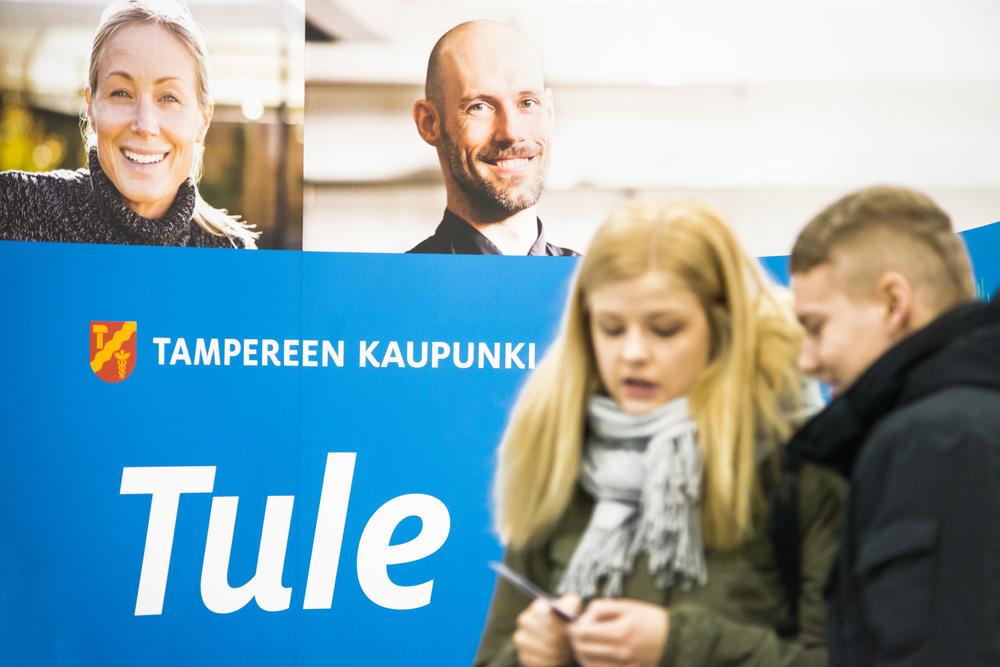 Tampereen kaupungin rekrytoinnin uusi ilme vuodesta 2014 eteenpäin.